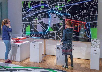 interaktive Medienstation Stadtplan, Stop and Go, DASA, Dortmund